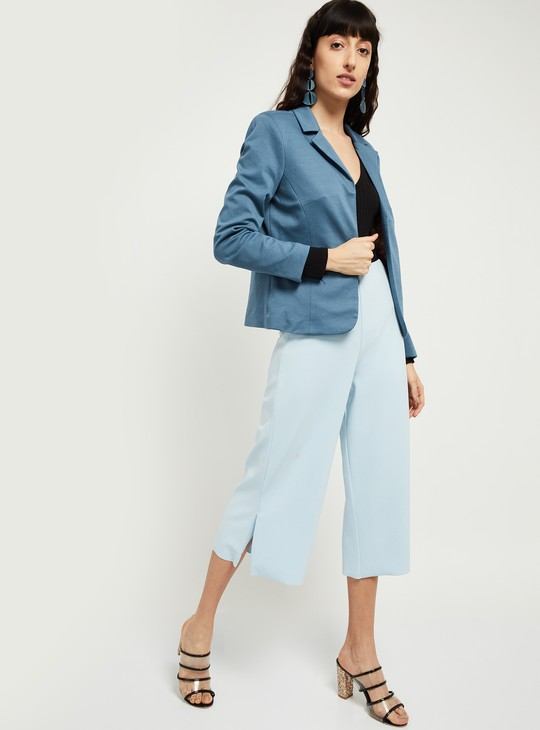 MAX Solid Open-Front Blazer