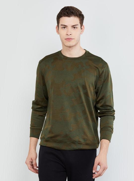 MAX Camouflage Print Sweatshirt