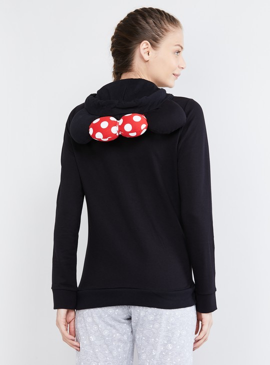 MAX Mickey Mouse Print Hooded Lounge Sweatshirt