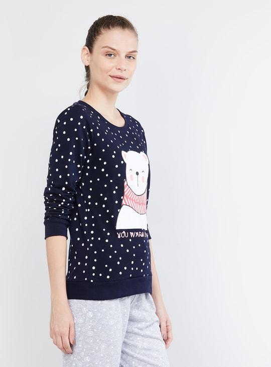 MAX Graphic Print Lounge Sweatshirt