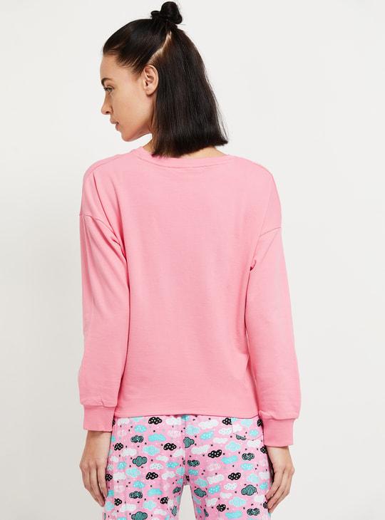 MAX Graphic Print Drop-Shoulder Lounge Sweatshirt