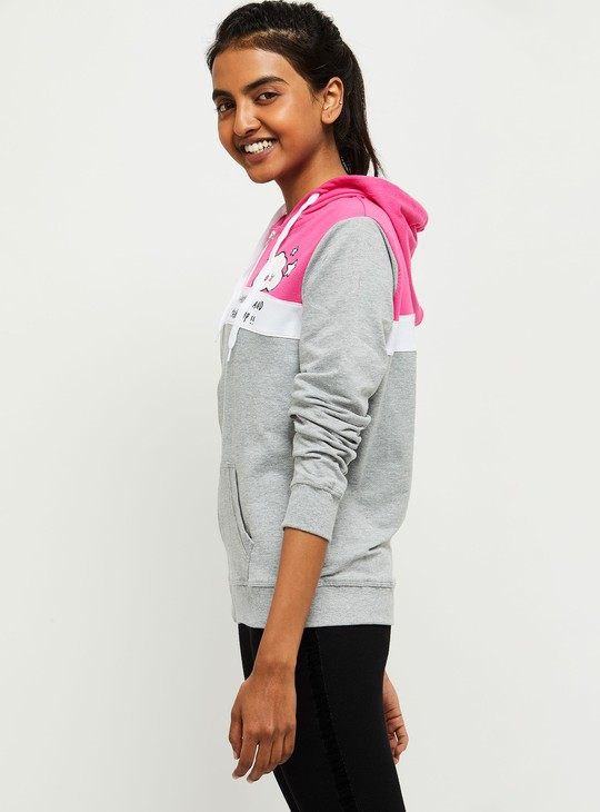 MAX Colorblocked Hooded Lounge Sweatshirt