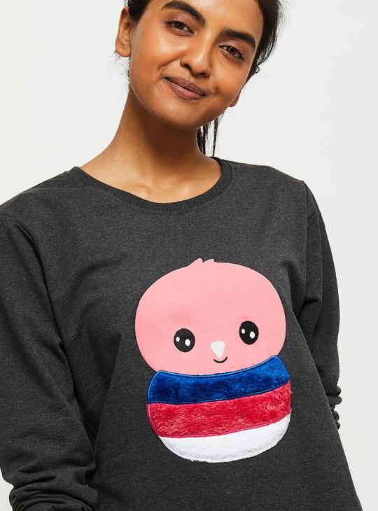 MAX Textured Sweatshirt with Applique