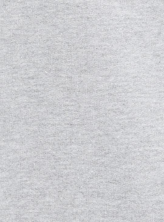 MAX Typographic Print Zip-Front Hoodie