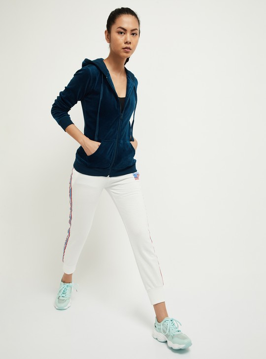 MAX Solid Zip-Front Hooded Jacket