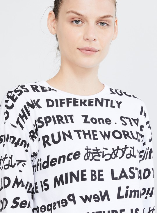 MAX Typographic Print Sweatshirt