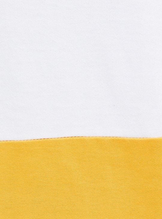 MAX Typographic Print Colourblock Hoodie