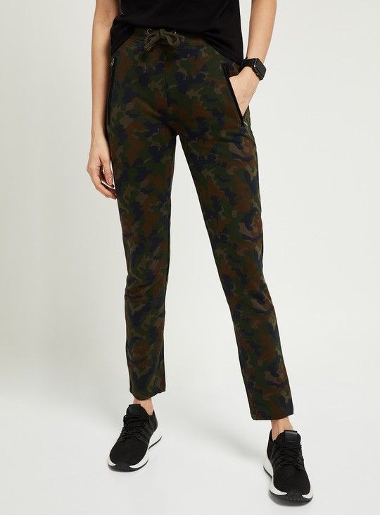 MAX Printed Knitted Full-Length Track Pants