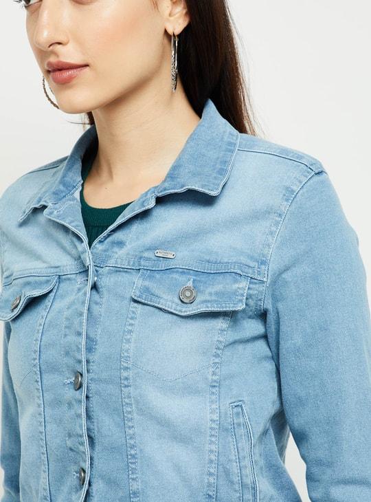 MAX Light Washed Denim Jacket