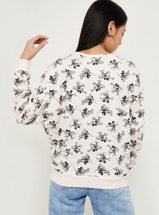 MAX Mickey Mouse Print Full Sleeves Sweatshirt