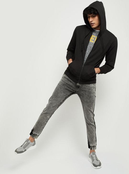 MAX Solid Full Sleeves Hooded Sweatshirt