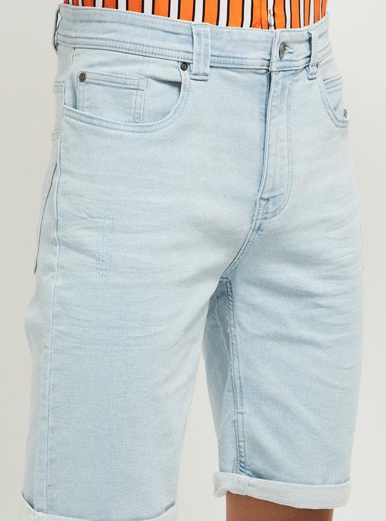 MAX Solid 5-Pocket Denim Shorts