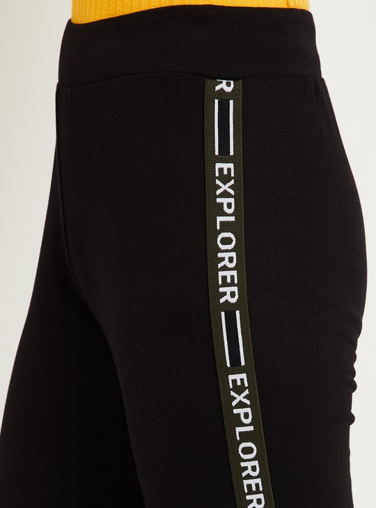 MAX Solid Tights with Panelled Detail