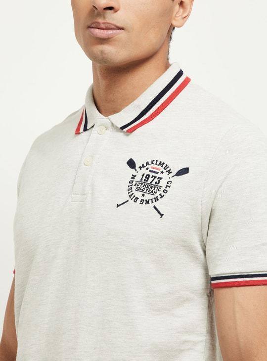 MAX Printed Short Sleeves Regular Fit Polo T-shirt