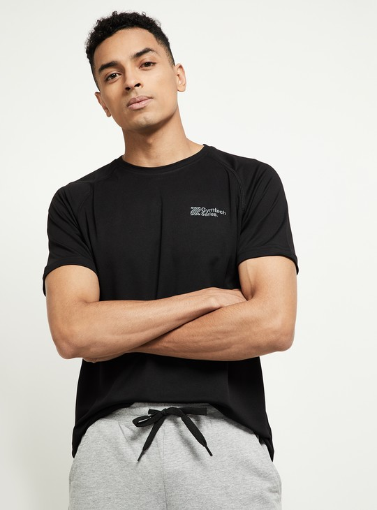 MAX GymTech Series Solid Crew-Neck T-shirt