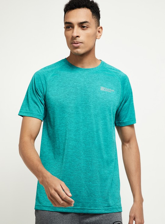 MAX Textured Raglan Sleeves Regular Fit T-shirt