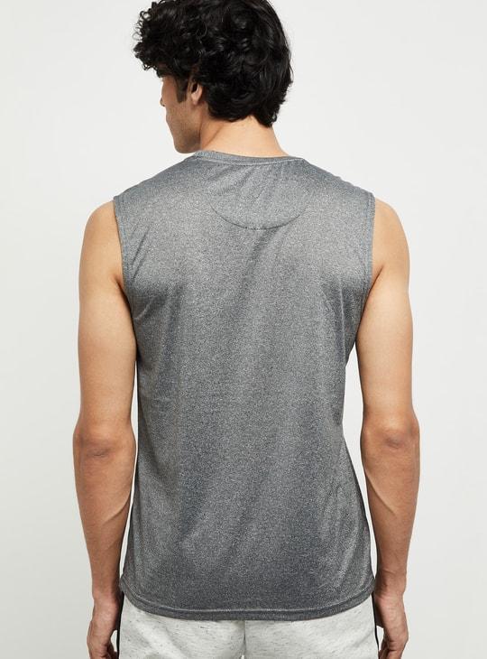 MAX Solid Sleeveless Crew Neck T-shirt