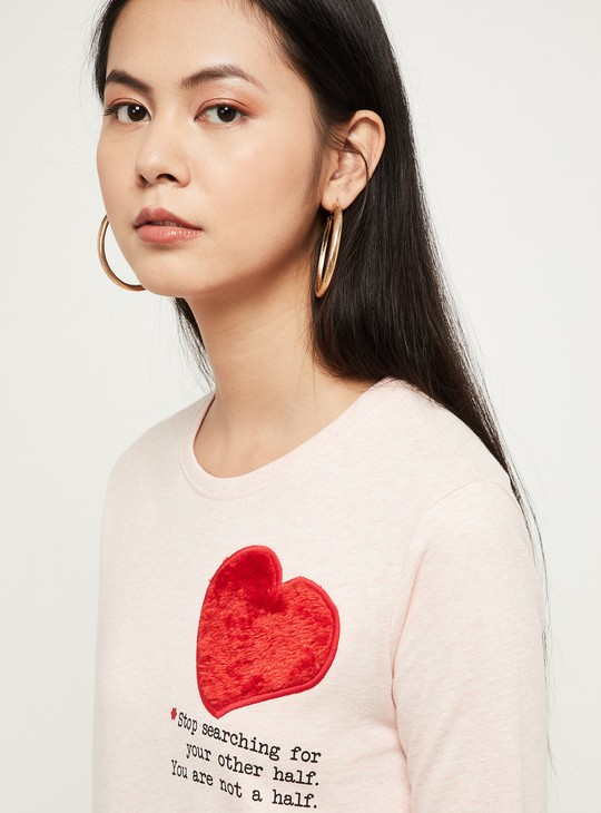 MAX Typographic Print Sweatshirt with Applique