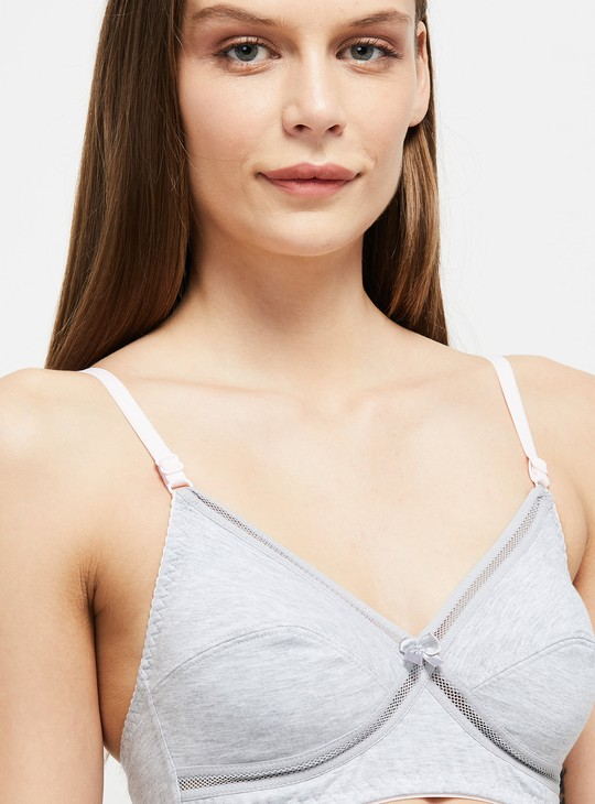MAX Solid Non-Padded Crossover Bra