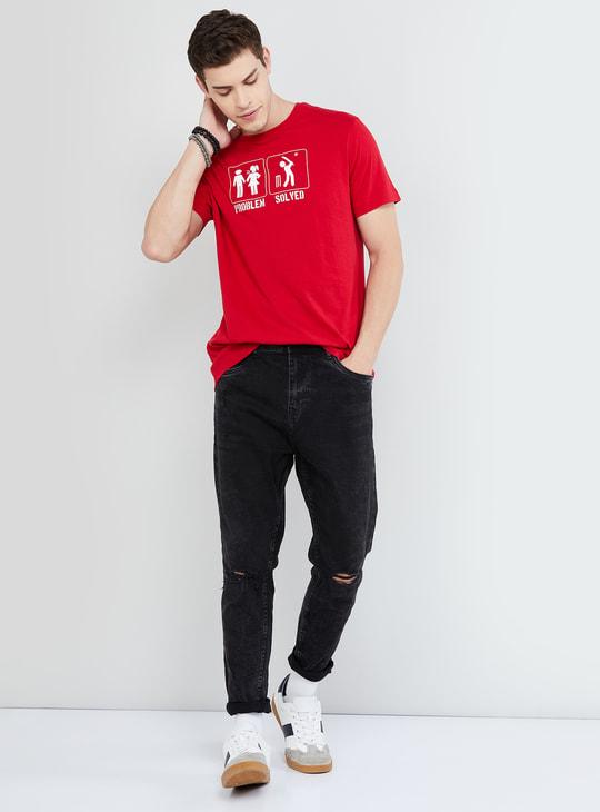 MAX Typographic Print Short Sleeves Regular Fit T-shirt