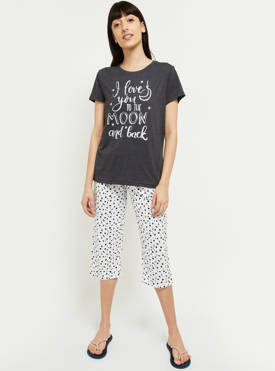 MAX Primnted Lounge T-shirt with Capris
