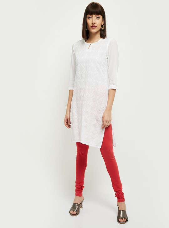 MAX Solid Knitted Churidhar
