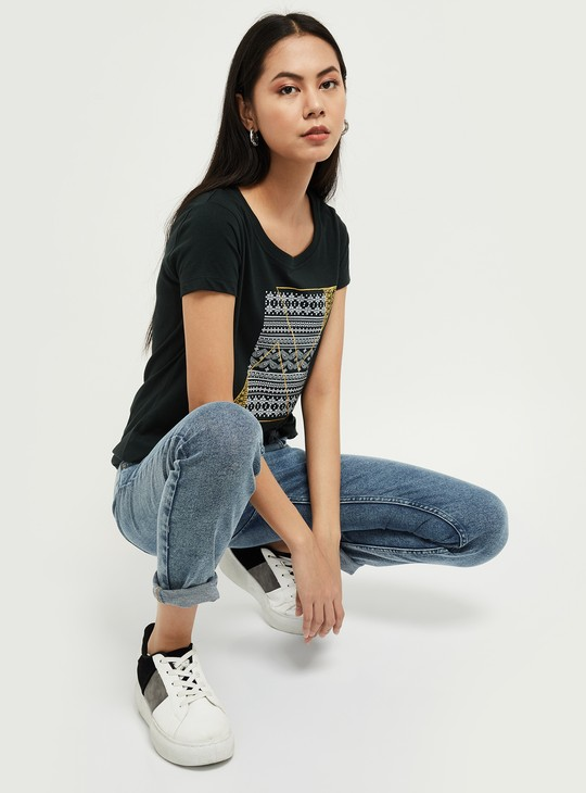 MAX Printed Round Neck T-shirt