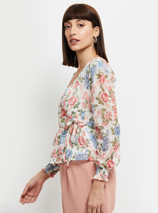 MAX Floral Print Full Sleeves Top