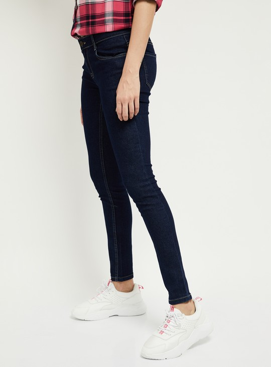 MAX Solid Skinny Ankle-Length Jeans