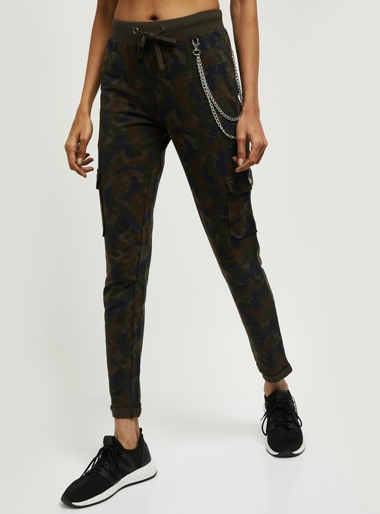 MAX Camouflage Print Elasticated Cargo Track Pants