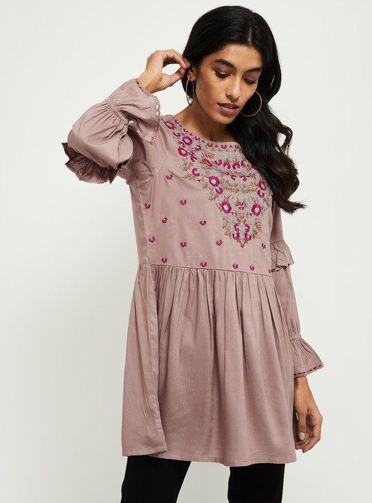 MAX Embroidered Full Sleeves Tunic