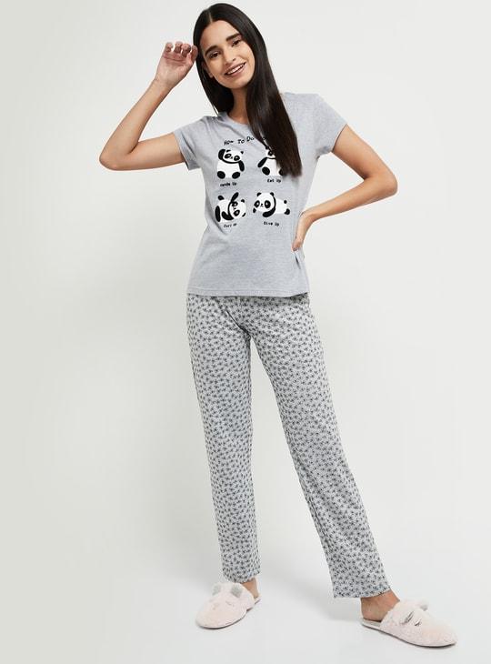 MAX Printed Knit Lounge Pants