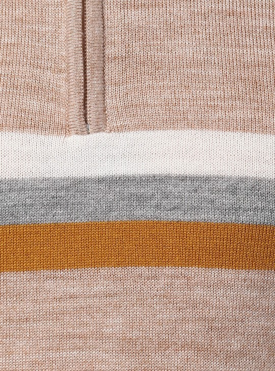 PETER ENGLAND Striped High-Neck Sweater