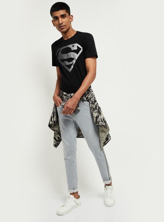 MAX Superman Print Crew-Neck T-shirt