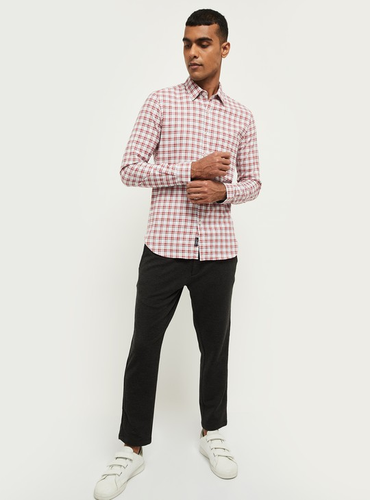 MAX Checked Full Sleeves Smart Casual Shirt