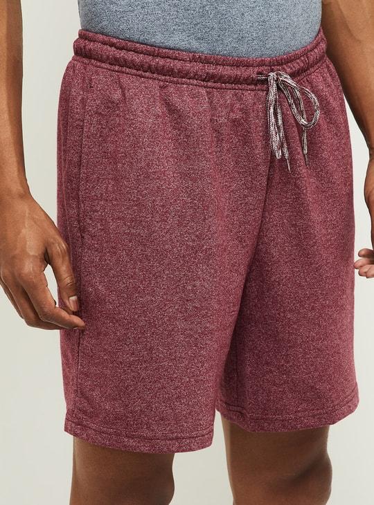 MAX Solid Drawstring Waist Lounge Shorts
