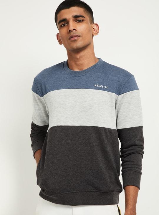 MAX Colourblocked Full Sleeves Sweatshirt
