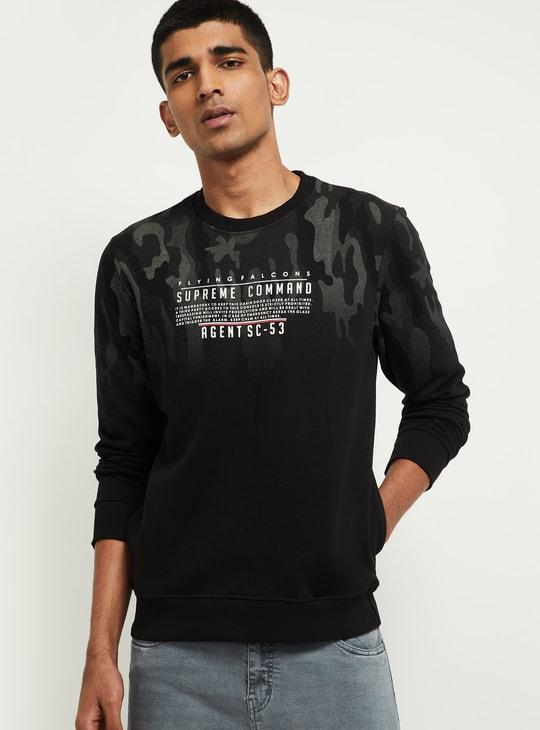 MAX Printed Crew Neck Sweatshirt
