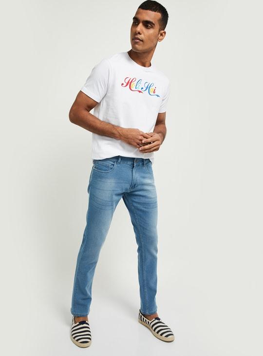 MAX Typographic Print Ultra Slim Fit Crew Neck T-shirt