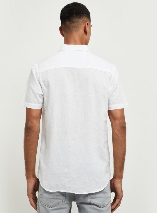 MAX Solid Linen Smart Fit Casual Shirt