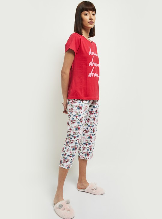 MAX Printed Lounge T-shirt and Capri