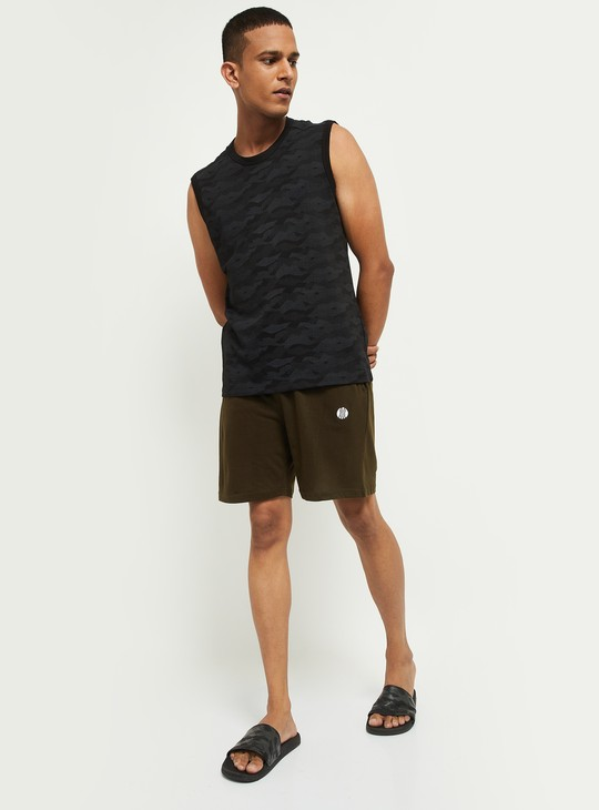 MAX Solid Elasticated Waist Lounge Shorts