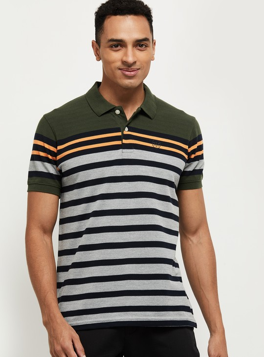 MAX Men Striped Polo T-shirt