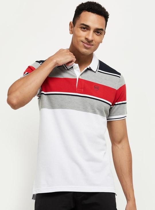 MAX Men Striped Polo T-shirt