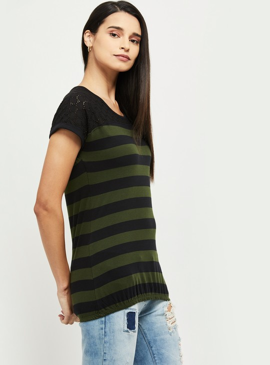 MAX Striped Extended Sleeves T-shirt