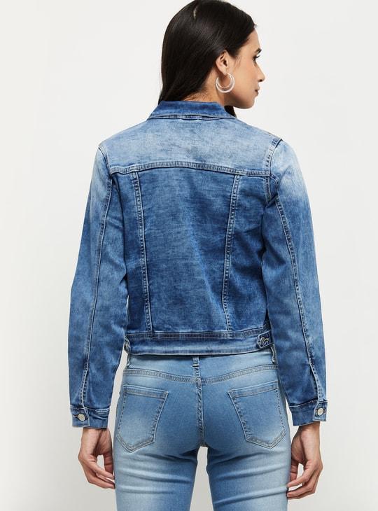 MAX Stonewashed Denim Jacket