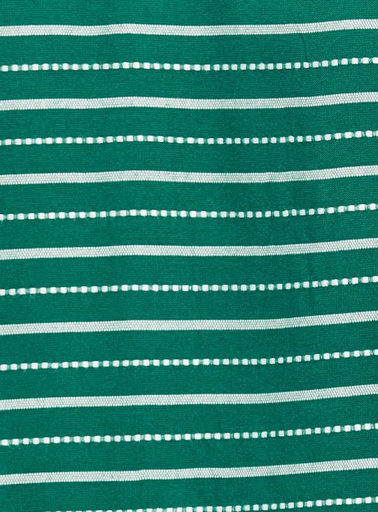 MAX Striped Three-Quarter Sleeves Straight Kurta