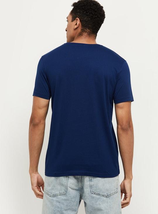 MAX Typographic Print Regular Fit Crew Neck T-shirt