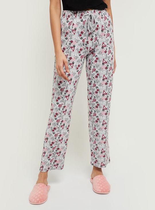 MAX Geometric Printed Elasticated Pyjamas