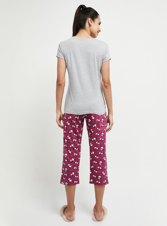 MAX Printed Lounge T-shirt with Capris